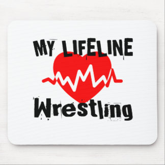 My Life Line Wrestling Sports Designs Mouse Pad