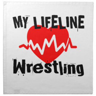 My Life Line Wrestling Sports Designs Napkin