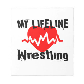 My Life Line Wrestling Sports Designs Notepad