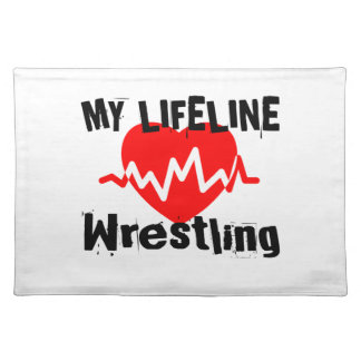 My Life Line Wrestling Sports Designs Placemat