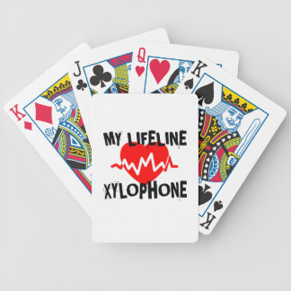 MY LIFE LINE XYLOPHONE MUSIC DESIGNS BICYCLE PLAYING CARDS