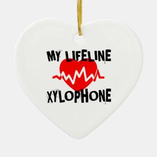 MY LIFE LINE XYLOPHONE MUSIC DESIGNS CERAMIC ORNAMENT