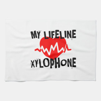 MY LIFE LINE XYLOPHONE MUSIC DESIGNS KITCHEN TOWEL
