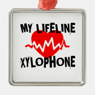 MY LIFE LINE XYLOPHONE MUSIC DESIGNS METAL ORNAMENT