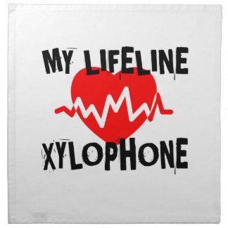 MY LIFE LINE XYLOPHONE MUSIC DESIGNS NAPKIN
