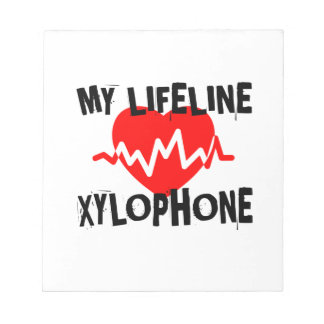 MY LIFE LINE XYLOPHONE MUSIC DESIGNS NOTEPAD