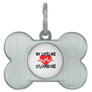 MY LIFE LINE XYLOPHONE MUSIC DESIGNS PET NAME TAG