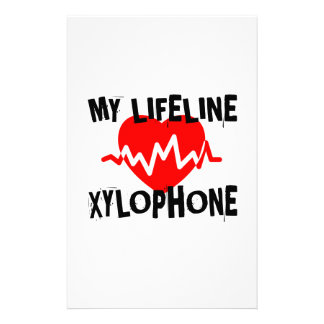 MY LIFE LINE XYLOPHONE MUSIC DESIGNS STATIONERY