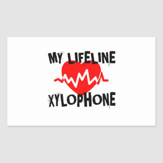 MY LIFE LINE XYLOPHONE MUSIC DESIGNS STICKER