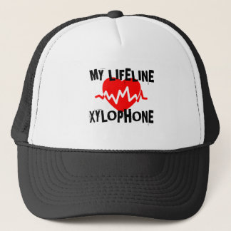 MY LIFE LINE XYLOPHONE MUSIC DESIGNS TRUCKER HAT