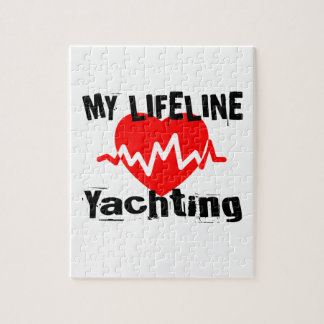 My Life Line Yachting Sports Designs Jigsaw Puzzle