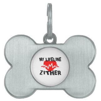 MY LIFE LINE ZITHER MUSIC DESIGNS PET NAME TAG