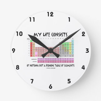 My Life Nothing But Periodic Table Of Elements Clocks