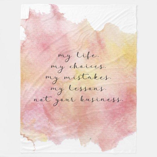 My life quote blanket