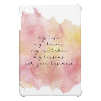 My life quote ipad case