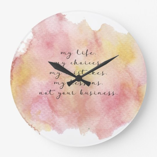 My life quote wall clock