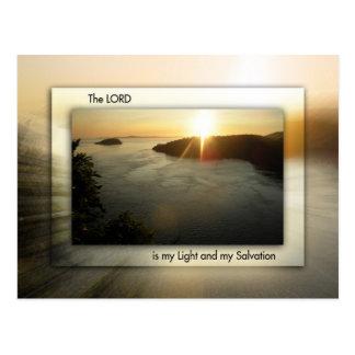My Light and My Salvation Postcard