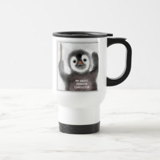 """My Liitle Penguin Conductor"" Travel Mug"