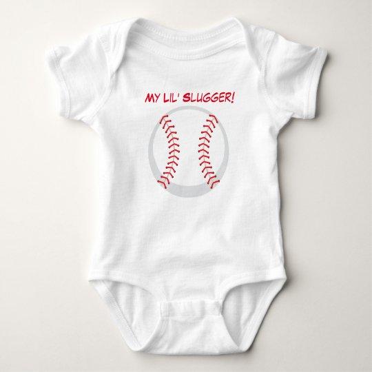 My Lil' Slugger Baseball Baby Jersey Bodysuit