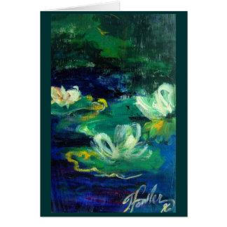 My Lillies in '96 Greeting Card Original Art