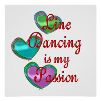 My Line Dancing Passion Poster
