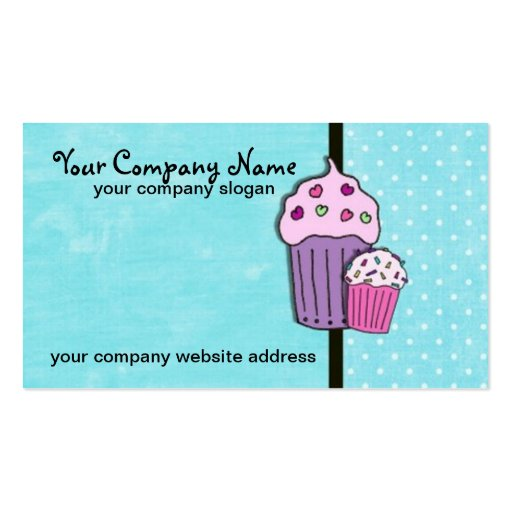 My Little Cupcake Business Cards Business Card