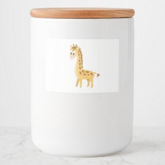 My Little Giraffe Food Label