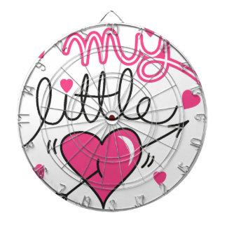 My little, heart, kid, love dartboard
