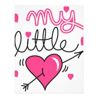 My little, heart, kid, love letterhead