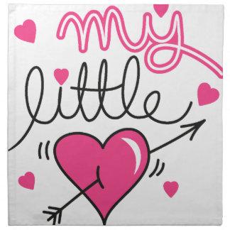 My little, heart, kid, love napkin