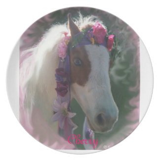My Little Horse Cherry w/flowers round plate