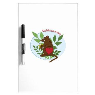 My Little Love Monkey Dry Erase Boards