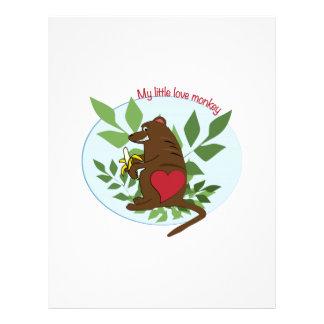 My Little Love Monkey Letterhead