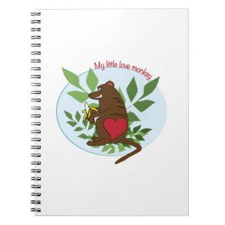 My Little Love Monkey Spiral Notebooks