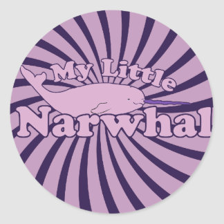 My Little Narwhal Parody Classic Round Sticker