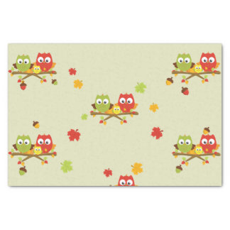My Little Owl Fall Tissue Decorative Paper