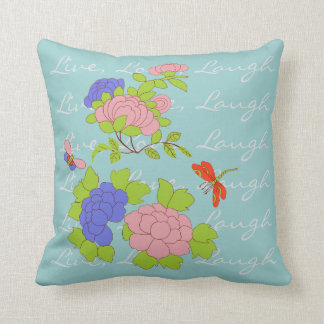 My Little Peony/Live Love Laugh Throw Pillow