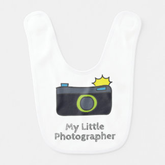 My Little Photographer Hand Drawn Bib