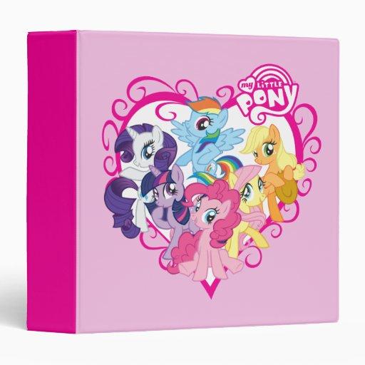My Little Ponies Heart 3 Ring Binder