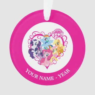 My Little Ponies Heart Ornament