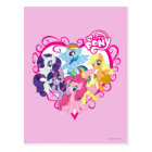 My Little Ponies Heart Postcard