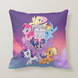 My Little Pony | Adventure and Friendship Forever Throw Pillow