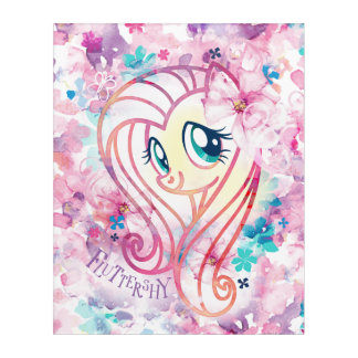 My Little Pony | Fluttershy Floral Watercolor Acrylic Wall Art