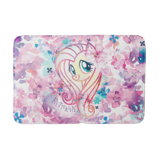 My Little Pony | Fluttershy Floral Watercolor Bath Mat