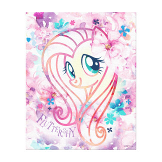 My Little Pony | Fluttershy Floral Watercolor Canvas Print