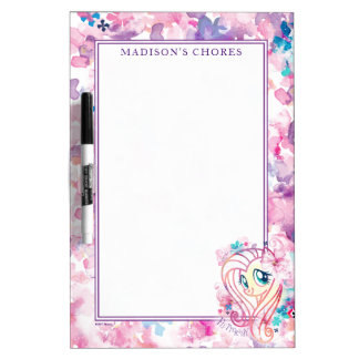 My Little Pony | Fluttershy Floral Watercolor Dry Erase Board