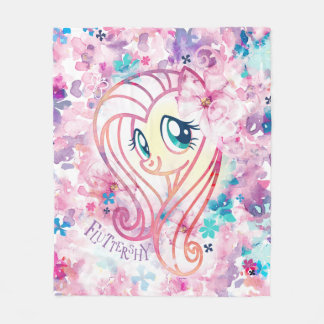 My Little Pony | Fluttershy Floral Watercolor Fleece Blanket