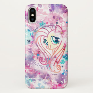 My Little Pony | Fluttershy Floral Watercolor iPhone X Case