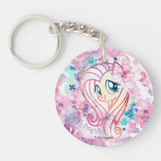 My Little Pony | Fluttershy Floral Watercolor Keychain
