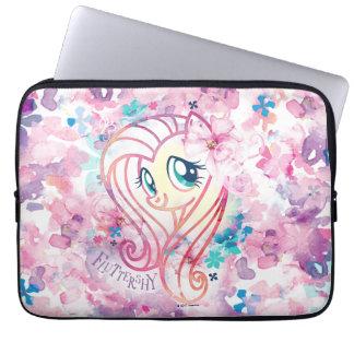 My Little Pony   Fluttershy Floral Watercolor Laptop Sleeve